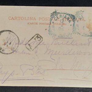 3 vroege briefkaarten (1905) met voorstellingen uit Italië. 2 x Ceriana 1 x Badalucco