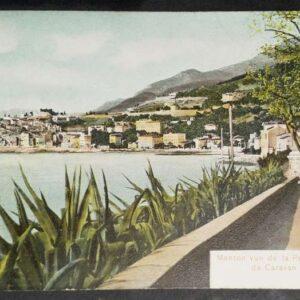 9 briefkaarten (1905) met voorstellingen uit Menton