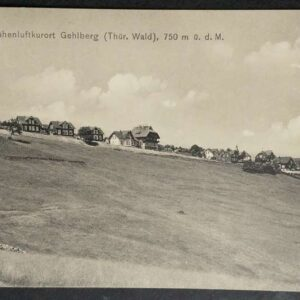 5 briefkaarten uit de jaren 20 met landschappen uit Duitsland.