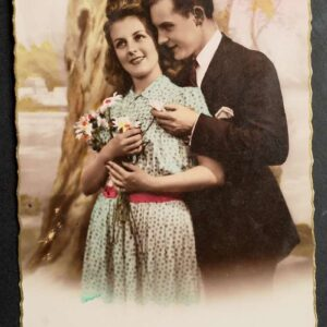 2 romantische briefkaarten in kleur uit het begin van de 20ste eeuw