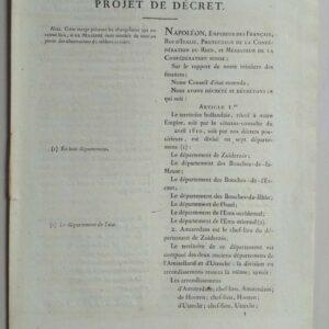 Projet de décret, 23 augustus 1810