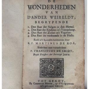 Martinus de Roa – De wonderheden van d'ander weireldt