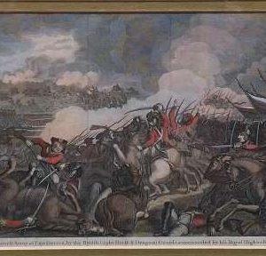 Nederlaag van het Franse leger in Landrecies, door de British Light Horse & Dragoon Guards, onder bevel van zijn Koninklijke Hoogheid de D. van York