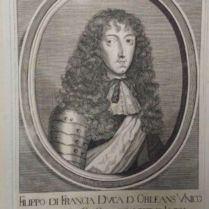 Portrait of Philip of France by Cornelis Meijssens after Adriaan van Bloemen