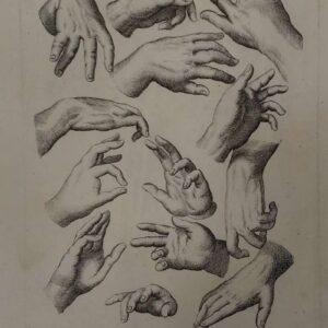 Gravure, handen