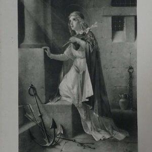 Litho van de heilige Filomena, naar een schilderij van Luigi Crosio