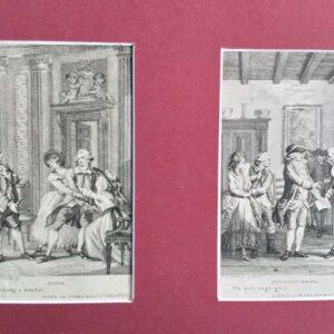 2 engravings by Reinier Vinkeles