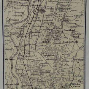 Kaart van de omstreken van Wijhe-Diepenveen