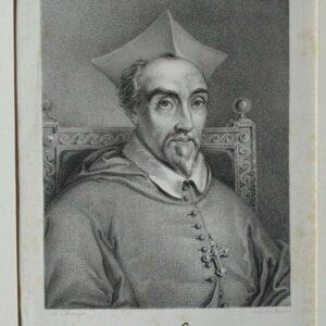 Lithografie, portret van kardinaal Khlesl door Carl Friedrich Irminger