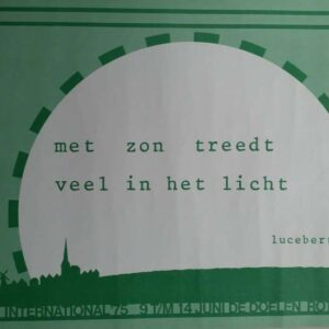 Affiche voor Poetry international met gedicht van Lucebert