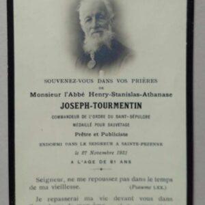 Notitieboekje Joseph Tourmentin