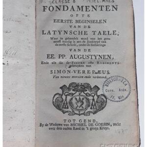 Simon Verepeus – Fondamenten (…) van de Latynsche Taele