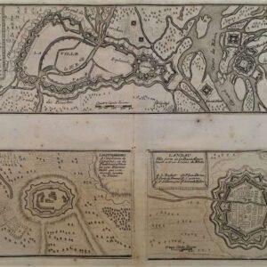 17de -eeuwse plattegrond van Straatsburg, Landau en Liehtemberg