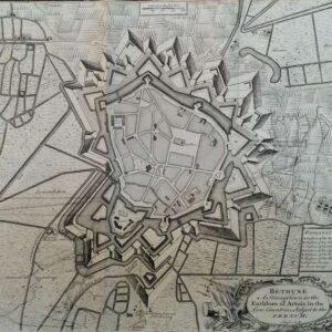 Plattegrond van de stad Bethune