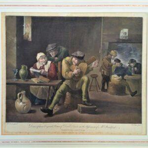 Muzikant in een boeren kroeg naar David Teniers