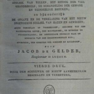 Allereerste gronden der cijferkunst, Jacob de Gelder