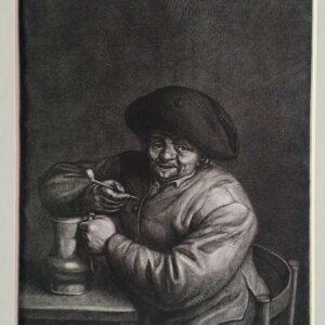 Gravure door Jonas Suyderhoef, naar Adriaan van Ostade
