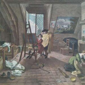 l'atelier du peintre door Pierre-François Basan