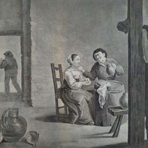 L'Amoureux Buveur door Pierre Charles Canot