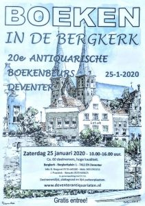 Antiquarische boekenmarkt in de Bergkerk in Deventer