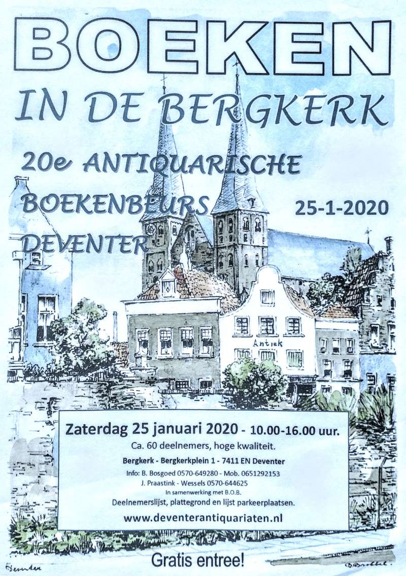 Antiquarian bookmarket in the Bergkerk in Deventer