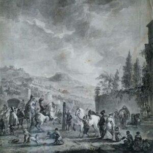 Le Manège door Thomas Major, naar Philips Wouvermans