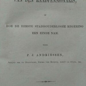 Het huisgezin van den raadpensionaris door P.J. Andriessen
