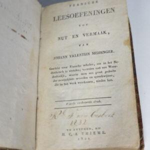 Johann Valentin Meidinger – Fransche leesoefeningen tot nut en vermaak