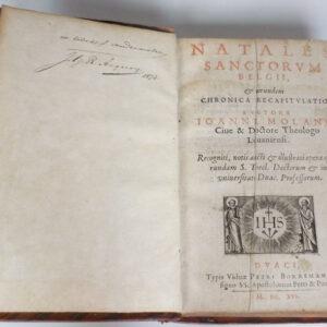 Joannes Molanus – Natales sanctorum Belgii