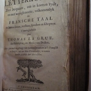 Thomas la Grue – Fransche letterkonst