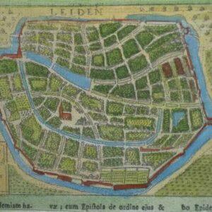 Stadsplattegrond van de stad Leiden