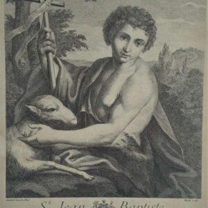 Johannes de Doper door Etienne Moitte naar Annibal Carache