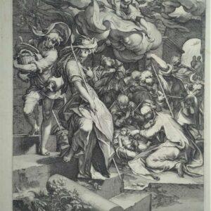 Aanbidding door de herders door Andries Jacobsz. Stock naar Abraham Blomaert
