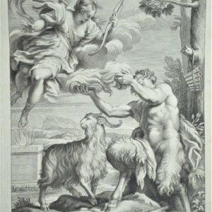 Pan offert aan Diana door Girolamo Frezza naar Carlo Maratti.