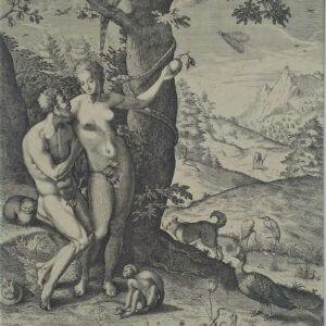 De verleiding van Adam door Eva door Gilles Mostaert