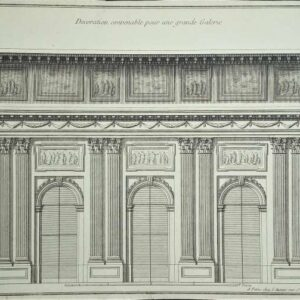 Decoration convenable pour une grande galerie door Jean-François De Neufforge