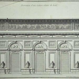 Decoration d'une galerie éclairé du haut door Jean-François De Neufforge