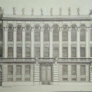 Gravure façade door Johann Michael Hoppenhaupt