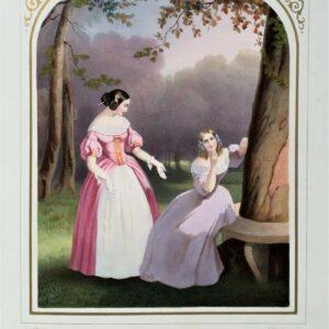 le verbe aimer, compositie J.G. Scheffer en lithografie door Regnier en Bettanier