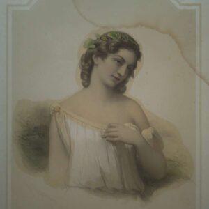 Portret van Chloé door Pierre Louis Henri Grévedon