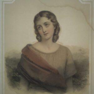 Portret van Daphne door Pierre Louis Henri Grévedon