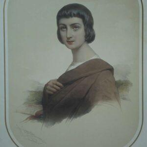 Portret van Abeilard door Pierre Louis Henri Grévedon