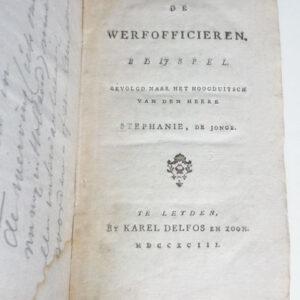 Gottlied Stephanie – De Werfofficieren