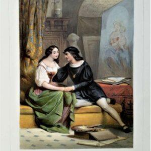 Raphael et la Fornarina door Jules David