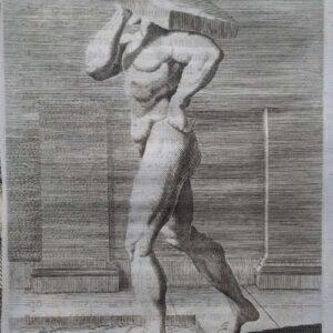 Tweede stand van een dragende man
