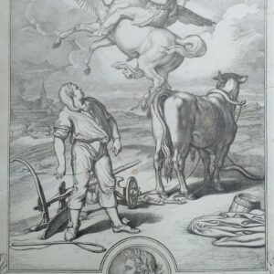 Bellerophon op de rug van Pegasus naar Buenaventura Genelli