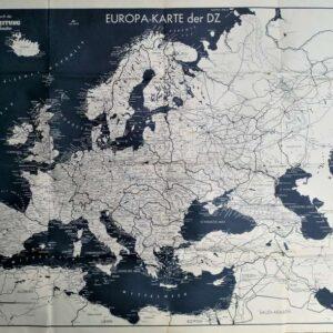 Europakaart Deutsche Zeitung in den Niederlanden