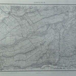 Militaire kaart van Gorichem en omgeving