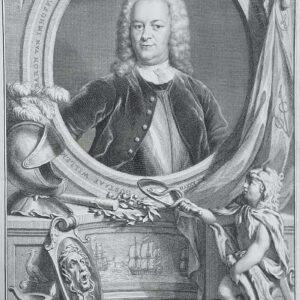 Portret van Gustaaf Willem Baron van Imhoff, door Jacob Houbraken