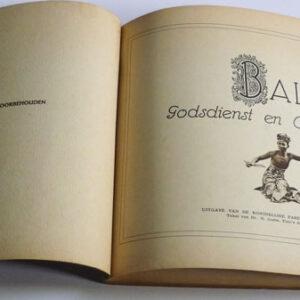 R. Goris & Walter Spies (foto's) – Bali, godsdienst en ceremoniën